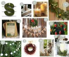 Christmas decorating ideas - love the candle and greenery in large mason jar!