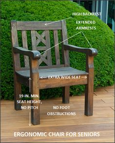 outdoor chair for elderly xl zero gravity with canopy and footrest 9 best prevent falls better garden furniture pinecrest gardens living spaces life outdoors the great