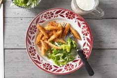 Buttermilchnudeln Butter, Chicken Wings, Carrots, Vegetables, Ethnic Recipes, Food, Noodles, Choux Pastry, Leafy Salad