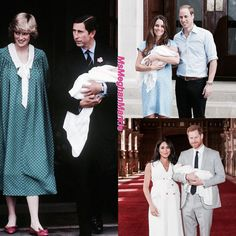 With their first borns William Arthur Philip Louis 1982 George Alexander Louis 2013 Archie Harrison 2019 Kate And Meghan, Prince Harry And Meghan, Princess Meghan, Prince And Princess, Charles And Diana, Prince Charles, Queen Kate, George Alexander Louis, Royal Monarchy