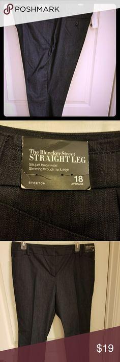 New York and Company Pants Denim look dress slacks New York & Company Pants Straight Leg