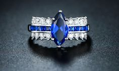 Image result for sapphire engagement rings
