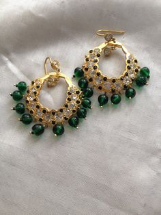 Indian Earrings Bollywood Jewelry Indian Wedding by MahrukhD
