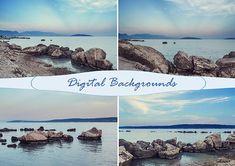 sea stones sea backgrounds stones backdrops digital