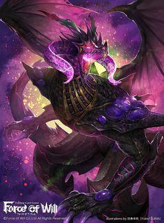 【Force of Will】Fury of the Obsidian Dragon, YukieTAJIMA 田島幸枝 on ArtStation at https://www.artstation.com/artwork/6Qk0r