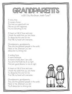 Grandparents Song (by Ron Brown from Intelli-Tunes via Teacher Idea Factory)