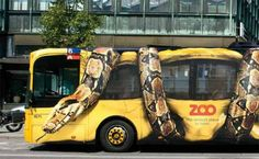 Copenhagen Zoo - Ads on Trucks & Buses
