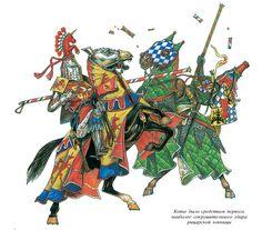 Combattimento fra cavalieri, XIV secolo