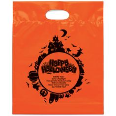 #Custom Fright Night Die Cut #Halloween #Plastic #Bag. Make the best first impression. Your clients would absolutely be delighted by your gesture of gifting them with such Logo imprinted promotional bag. As low as: $0.30