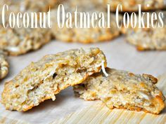 Coconut Oatmeal Cookies with Apple. Soft and delicious!!