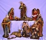 """43 NATIVITY SCENE"""" - 13 pieces.  stands 43"""" tall"""