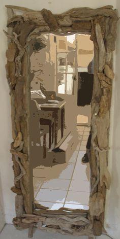 Miroir bois flotte