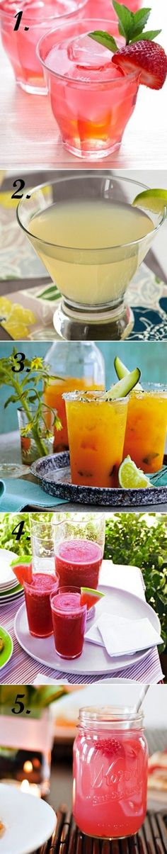 5 summer coctails recipes - wedding daze