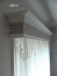 The Joy of Moldings.com How to decorate your home with moldings -- DIY or hire a pro. Home Lower Navigation About Ken Before & Afters Reader's Moldings How to Install Moldings Main Design & Installation Guide How to Paint Moldings PATTERN BOOK Materials Return to Content Before & After: Craftsman or Victorian Window Valance Box