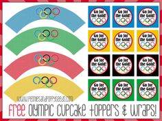 Winter Olympics – Printable Cupcake Wrappers