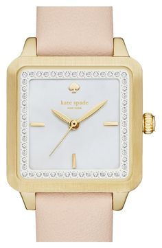 Adoring this classy and elegant Kate Spade watch in gold. It's the perfect accessory for keeping time while at the office.