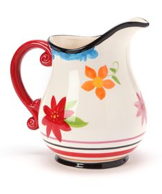 Take a look at this Design Imports Carnival Stripe Pitcher on zulily today!