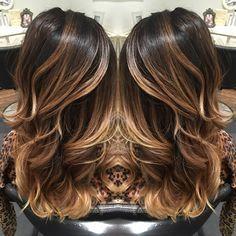 Balayage dark balayage Carmel balayage highlights hair beauty layers
