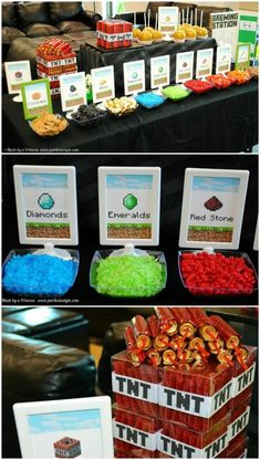 Sweet minerals for a Minecraft party!