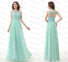 hmoecoming dresses 2015 under | 2015 Cheap Prom Dresses Under 100 Long Mint Green Chiffon Backless ...