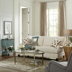Get inspired by Traditional Living Room Design photo by Wayfair. Wayfair lets you find the designer products in the photo and get ideas from thousands of other Traditional Living Room Design photos. Living Room Furniture, Living Room Decor, Living Rooms, Family Rooms, Living Spaces, Sunroom Furniture, Farmhouse Furniture, Wooden Furniture, Apartment Living