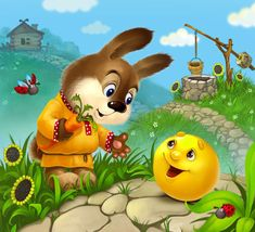 Drawing For Kids, Art For Kids, Cute Little Things, Smiley, Illustrators, Good Morning, Fairy Tales, Pikachu, Cute Animals