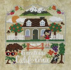 NEW Golden State : Stitcher's Village Frosted by thecottageneedle