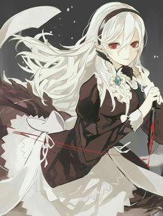 Fire Emblem: if/Fates - Kamui/Corrin Chica Anime Manga, Manga Girl, Kawaii Anime, Fire Emblem Fates, Fire Emblem Characters, Anime Characters, Demon Manga, Character Art, Character Design
