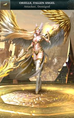 ORIELLE, FALLEN ANGEL, Attacker, Demigod