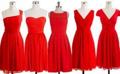 Panatone Poppy Red Bridesmaid Dresses