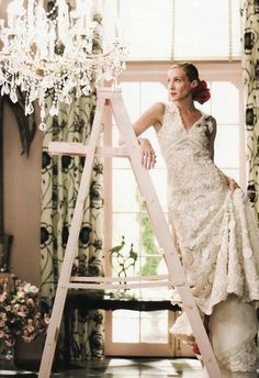 "I love the way Sarah Jessica Parker said ""Oscar de la Renta"" in Sex and the City the movie. From Vogue Bridal Issue Photoshoot."