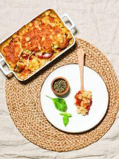 Χυλοπίτες ογκρατέν με ψητές ντομάτες και μοτσαρέλα - www.olivemagazine.gr