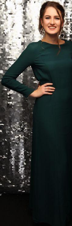 Mount Albert Grammar Ball 2015. Love this long sleeved gown! www.whitedoor.co.nz