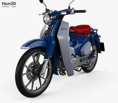 model of Honda Super Cub 2019 Honda Cub, Cinema 4d, Scooters, Motorbikes, Cubs, Vw, Motorcycles, Models, Templates