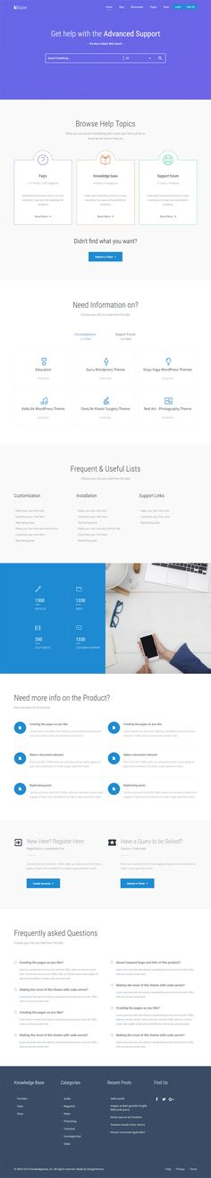 The KBase is a striking #Wordpress #theme developed for creating help center, help desk, Wiki, and customer support system websites.