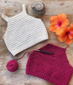 Diy Crafts - Finishing some tops . Made these ones with cascadeyarns Fixation. Crochet pattern for this Elsa top 2 in my Etsy shop (link in bio) Mode Crochet, Crochet Girls, Crochet Woman, Crochet Summer Tops, Crochet Crop Top, Crochet Crafts, Crochet Projects, Diy Crafts, Crochet Stitches