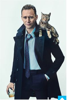 Tom Hiddleston for Shortlist Magazine  2 of my favorite things.  the drink looks okay, too.