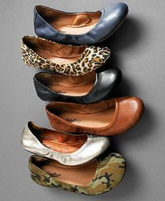 Flats... I like the brown ones. I just don't like pointy toes flats :) Lucky Brand Emmie Flat