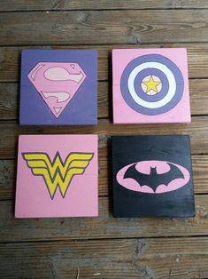 superhero signs for girls girls room decor pink superheroes