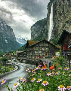 Wonderful Places: Rainy day in Lauterbrunnen - Switzerland ✨❤️❤️❤️✨ Picture by ✨✨ . Places Around The World, The Places Youll Go, Places To See, Around The Worlds, Beautiful Places To Visit, Wonderful Places, Beautiful World, Pictures Of Beautiful Places, Beautiful Beach