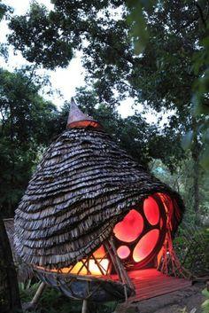 The Den Sleep-Over Pod, Soneva Kiri Resort,. The Den Sleep-Over Pod, Soneva Kiri Resort, Thailand Fairy Houses, Play Houses, Amazing Architecture, Architecture Design, Building Architecture, Natural Architecture, Unusual Homes, Natural Building, Tiny House