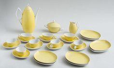 "Rosenthal ""Oval"" coffee set by Rudolf Lunghard, porcelain, 1952,"