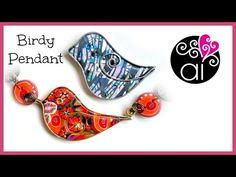 Birdy Pendant Clay & Flat Wire | Ciondolo Uccellino ~ Polymer Clay Tutorials