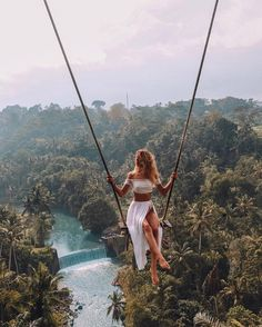 Welcome to Bali. Tag your friends or someone special take to picture or video this place. The most beautiful place at bali swing with view. Travel Pictures, Travel Photos, Beautiful Places To Travel, Bali Travel, Wanderlust Travel, Ubud, Travel Aesthetic, Travel Goals, Travel Hacks