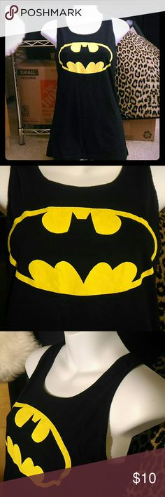 Batman Tank Top ~ Gently Used; Good Condition. ~100% Cotton. ~ Offers Welcome! Batman Tops Tank Tops