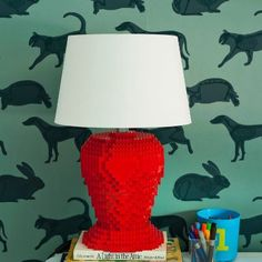 How to make a DIY LEGO lamp.