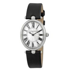 Frederique Constant Ladies' Stainless Steel Art Deco Watch With Black Satin Strap (=)