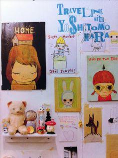 Artist Workspace, Superflat, Yoshitomo Nara, Aichi, Sketchbook Inspiration, Japanese Artists, Nature Animals, Modern Art, Folk