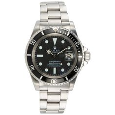 Rolex Submariner stainless steel wristwatch, reference 16610. This classic modern Submariner is from 2002, it features a stainless steel oyster bracelet with flip lock buckle, original black Rolex dial, sapphire crystal, stainless steel waterproof crown. #CraigEvanSmall