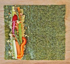 Quinoa and ginger nori rolls: vegan sushi